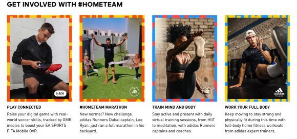Adidas#HOME TEAM social post