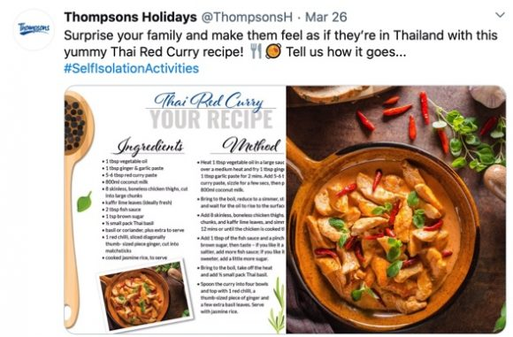 Thompson holidays post, Thai recipes