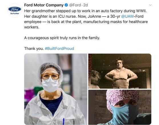 Ford social media post - family spirit